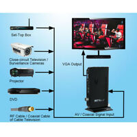 External HD TV Tuner Adapter For TV Box PC Monitor Cameras LCD CRT VGA D7D2
