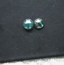 2 pcs 5.0mm pair of natural blue round rose cut diamond for earring, raw diamond