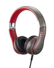 Casio XWH3 On-Ear Headphones - Grey/Red