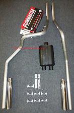 06-08 Dodge Ram Mandrel Bent Dual Exhaust w/ Flowmaster Muffler Super 44