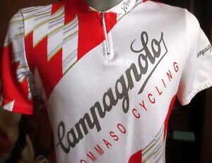 Vintage CAMPAGNOLO Cycling Jersey Size 5 XL Tommaso Made In Italy