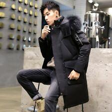 Winter Men's Hooded Jacket Puffer Coat Duck Down Outwear Overcoat Thick Fashion