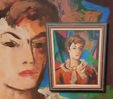 GISBERT PALMIE (*1897) Frau in Rot. Expressives Portrait Ölgemälde. Artpr bis9t€