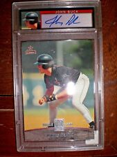 John Buck 2001 Topps Reserve Uncirculated Autographed Graded Rookie Card Houston