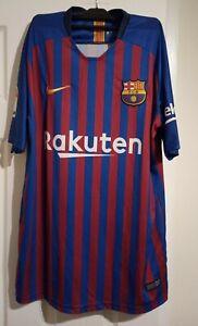 FC Barcelona 2018-19 Home Shirt Messi 10 Unofficial XL