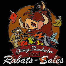 Giving Thanks for Food - Timon & Pumbaa - Disney Auctions Pin LE100 New On Card