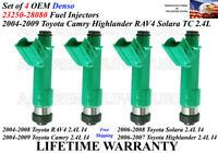 Refurbished 4unit Genuine Denso Fuel Injectors *2002-03-04* Toyota Camry 2.4L I4