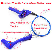 Blue Throttle Cable Gear Shift Lever For CRF50 SSR Thumpstar Lifan Dirt Pit Bike