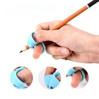 3pcs Children Silicone Grip Pens Kids Pencil Holder Help Learn Writing Tool Blue