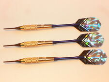 Soft Tip Darts 18 Gram Brass with Aluminum Shafts and a Nylon case New #1016