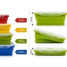 Silicone Lunch Box Food Container Storage Tableware Portable Bento Lunchbox Sets
