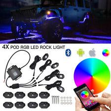 For Suzuki GSXR 4x RGB LED Rock Lights Bluetooth Multi Color Body Glow Lighting