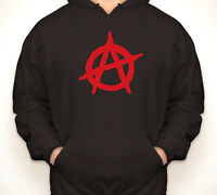 ANARCHY symbol anarchist punk rock retro vintage hoodie/hooded sweatshirt S-5XL