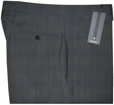 $365 NWT ZANELLA NORDSTROM DEVON CHARCOAL WINDOWPANE DRESS PANTS 36