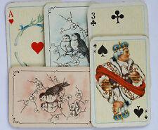 ASS, Alte Patience Mini Spielkarten,ASS Miniaturkarten