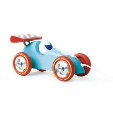 Voiture de course à traîner bleu turquoise & rouge - Vilac 2309B
