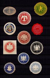 4099/ Lot Siegelmarken – kreuz und quer durch Ämter und Firmen – siehe scan