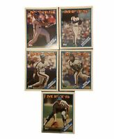 Lot Of 5 Vintage Mets 1988 Two-Pocket Folder Topps Strawberry Gooden Carter