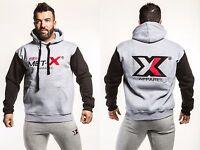 Met-X Mens Fleece Hooded Muscle Top Fitness Sweatshirt Hoody Jumper S M L XL