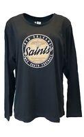 New Orleans Saints NFL Team Apparel Black Long Sleeve Women's Shirt, Plus Size