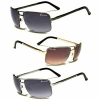 NEW Classic Retro Mens Fashion Metal Aviator's Vintage Designer Sunglasses Black