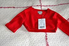 veste neuve rouge 3 ans neuf cyrillus ou cache coeur 5% lapin angora