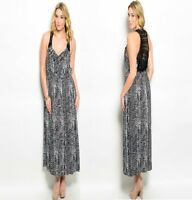 LD16 Womens Beach Long Maxi Evening Wedding Work Party Plus Size Print Dress