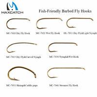 Maxcatch 100pcs 4#-22# Fly Fishing Hooks Dry&Wet&Nymph&Streamer&Shrimp Hooks