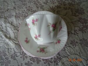 SHELLEY BRIDAL ROSE CUP/SAUCER/PLATE