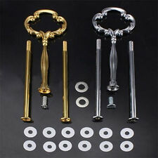 JW_ 2 Or 3 Tier Plate Handle Fitting Hardware Rod Tool Cake Plate Stand Showy