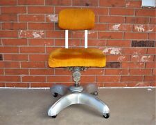 1956 Mid Century Modern Industrial Swivel Aluminum Base ART METAL OFFICE CHAIR