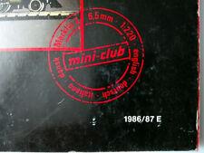 Märklin mini-club scala Z 1:220 catalogo 1986/87 english deutsch italiano dansk