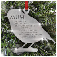 In Loving Memory Robin PERSONALISED Christmas Bauble Decoration Mum Dad Nanny