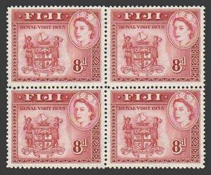 Fiji 146 block/4,MNH.Mi 123. Royal Visit 1953, Queen Elizabeth II,Coat of Arms.