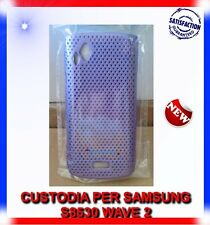 Custodia MESH VIOLA per Samsung WAVE 2 S8530