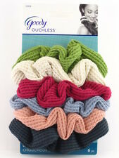 32926 G6a Goody Ouchless Jumbo Thermal Hair Scrunchies - 6 Pcs Colors May Vary