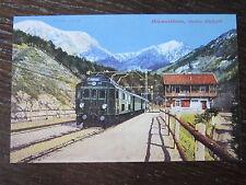 Chronik der Eisenbahn Eisenbahnpostkarte Mittenwaldbahn Station Hochzirl