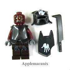 NW LEGO Lord of the Rings LOTR 9476 URUK-HAI WHITE HAND HELMET/SHIELD Minifigure