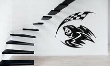 Scytheman Checked Flag Race Car Sport Mural Wall Art Decor Vinyl Sticker z341
