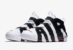 Nike Air More Uptempo White Black Red Bulls Scottie Pippen 414962 105 Size 7