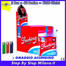 FILTRI SMOKING SLIM 6 mm 60 BUSTINE 7200 filtrini 6mm 2 BOX  2 scatole filtri
