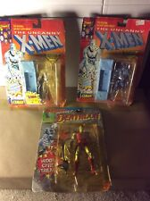 3 Toybiz Marvel Vintage Figures 2 Iceman And Deathlok