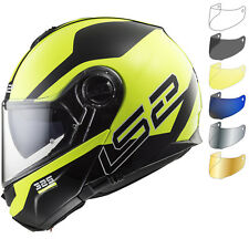 LS2 Helmet Bike Flip-up Ff325 Strobe Zone Black Hi Vis Yellow L