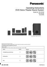 Panasonic SA-XH60 SA-XH100 SA-XH160 Home Theater System Instruction Manual