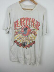 Furthur Grateful Dead 2010 Concert Mens T Shirt Size XL Crew Neck Double Graphic