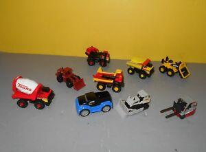 Lot of TONKA Maisto 1:64 Die Cast Metal / Plastic Construction Vehicles w/ Match