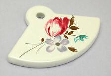 Ceramic Flower Knob Backplate Cabinet Cupboard Door Drawer Dresser Pull Gold Fan