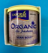 California Scents VERRI BERRY Large Organic Car Air Freshener Freshner