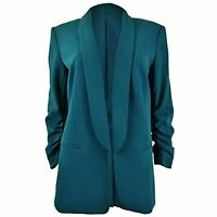 MSRP $129 DKNY Womens Solid Polyester Blazer Blue Size 10
