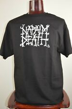 Napalm Death Mens XL Black Graphic T Shirt Grindcore Death Metal Crest Punk